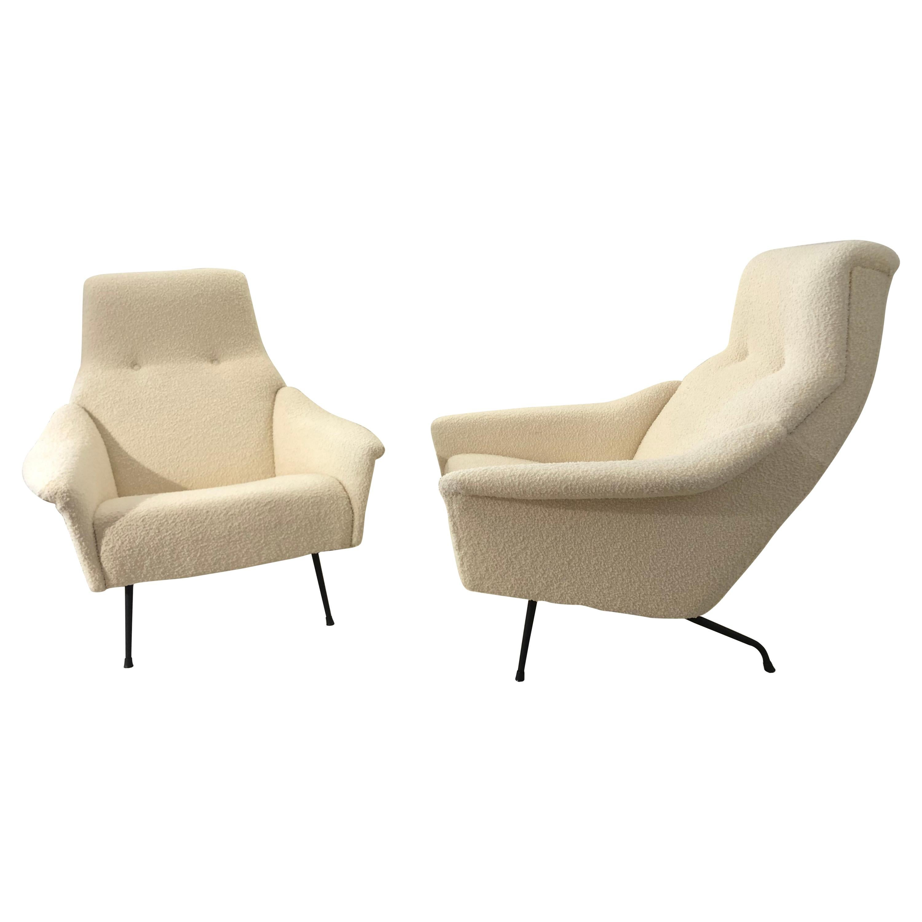 Pair of Armchairs by Guy Besnard
