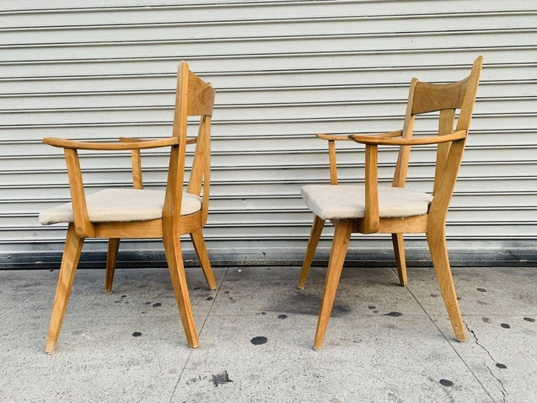 Mid-Century Modern Pair of Armchairs by Heywood Wakefield For Sale