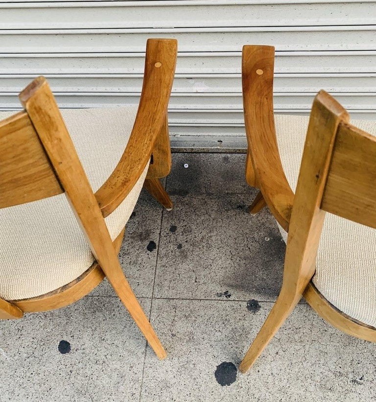 Pair of Armchairs by Heywood Wakefield For Sale 1