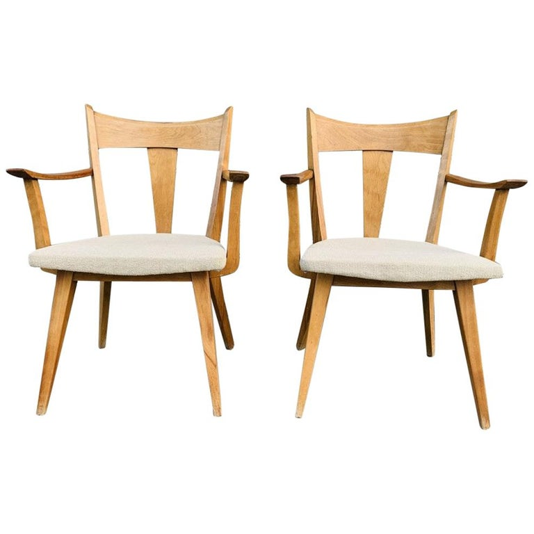 Pair of Armchairs by Heywood Wakefield For Sale