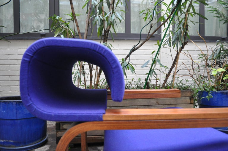 Pair of Armchairs by Jan Bocan for the Czechoslovakian Embassy, Thonet, 1972 For Sale 8