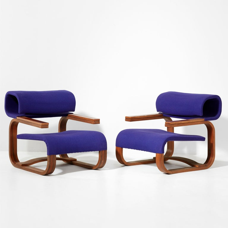 These arms chair are designed by the architect Jan Bocan for the Czechoslovakian embassy in Stockholm built in 1972. Bocan designed the building as well as the furniture. Those chairs have been only built for the building and made by the famous