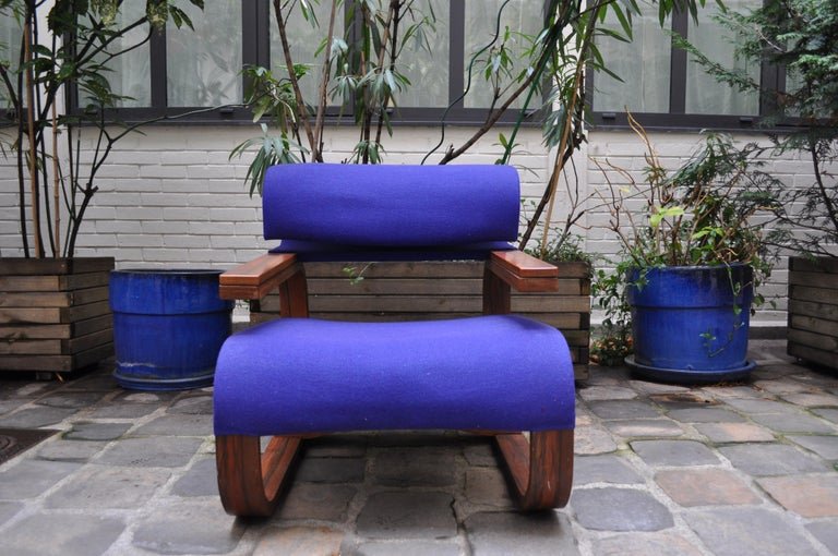 Pair of Armchairs by Jan Bocan for the Czechoslovakian Embassy, Thonet, 1972 For Sale 1
