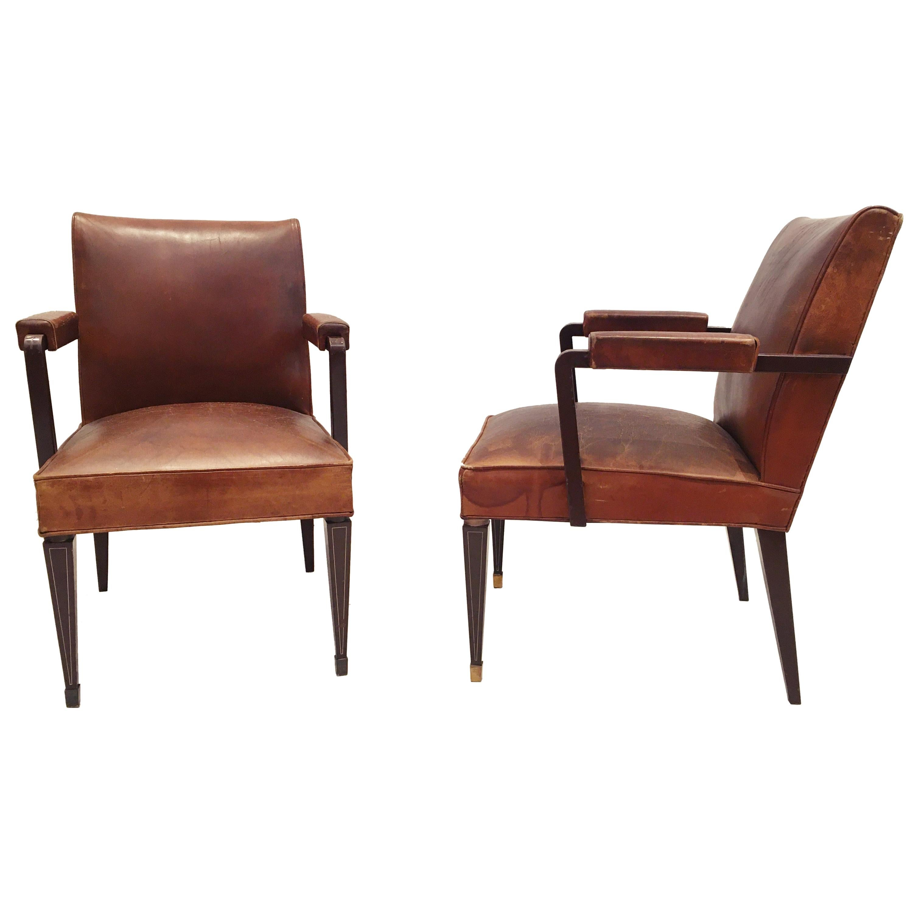 Pair of Armchairs by Jansen