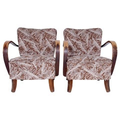 Pair of armchairs by Jindřich Halabala, 1950´s