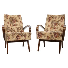 Pair of Armchairs by Jindřich Halabala, 1960s