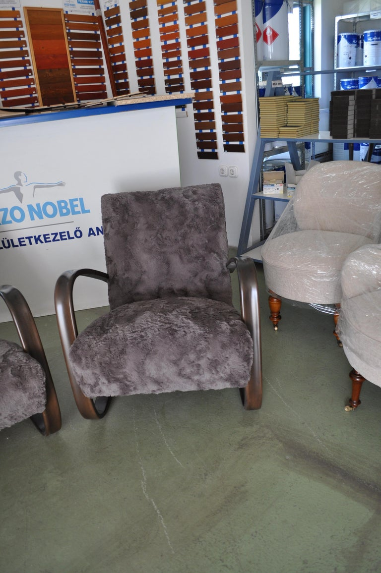 Art Deco Pair of Armchairs by Jindrich Halabala For Sale