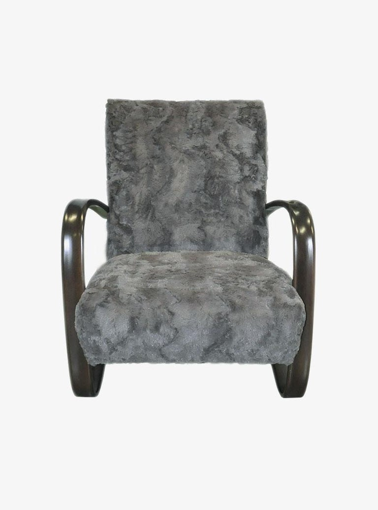 Stained Pair of Armchairs by Jindrich Halabala For Sale