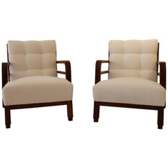 Pair of Armchairs by Lajos Kozma, circa 1930, Hungary