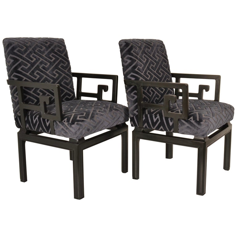 Pair of Armchairs by Michael Taylor for Baker Far East Collection For Sale