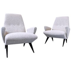 Pair of Mid-Century Modern  Armchairs by Nino Zoncada for Frimar, Italy
