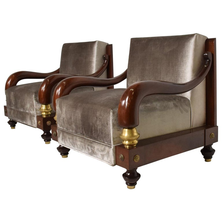 Octavio Vidales armchairs, 1950s, offered by Ambianic