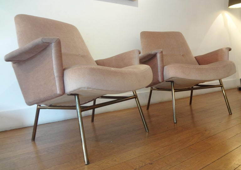 Pair of Armchairs by Pierre Guariche, 1953 In Good Condition For Sale In Paris, FR