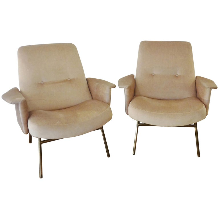 Pair of Armchairs by Pierre Guariche, 1953 For Sale