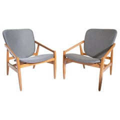 Pair of Armchairs by Pizzetti, Italy, Mid-20th Century