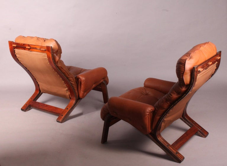 Pair of armchairs by Rybo Rykken.