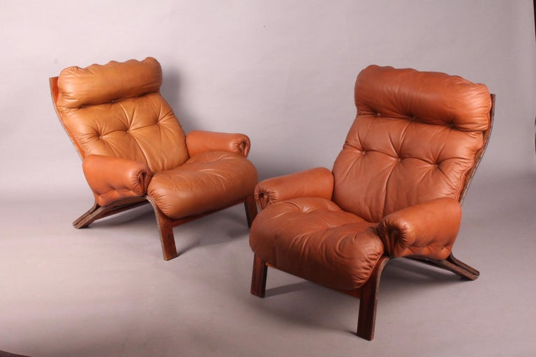 Pair of Armchairs by Rybo Rykken For Sale 1