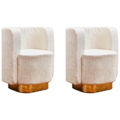 Pair Of Armchairs by Studio Glustin