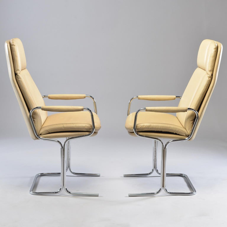 Mid-Century Modern Pair of Armchairs by Tim Bates for Eleganza Collection at Pieff For Sale