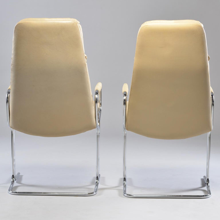 Metal Pair of Armchairs by Tim Bates for Eleganza Collection at Pieff For Sale