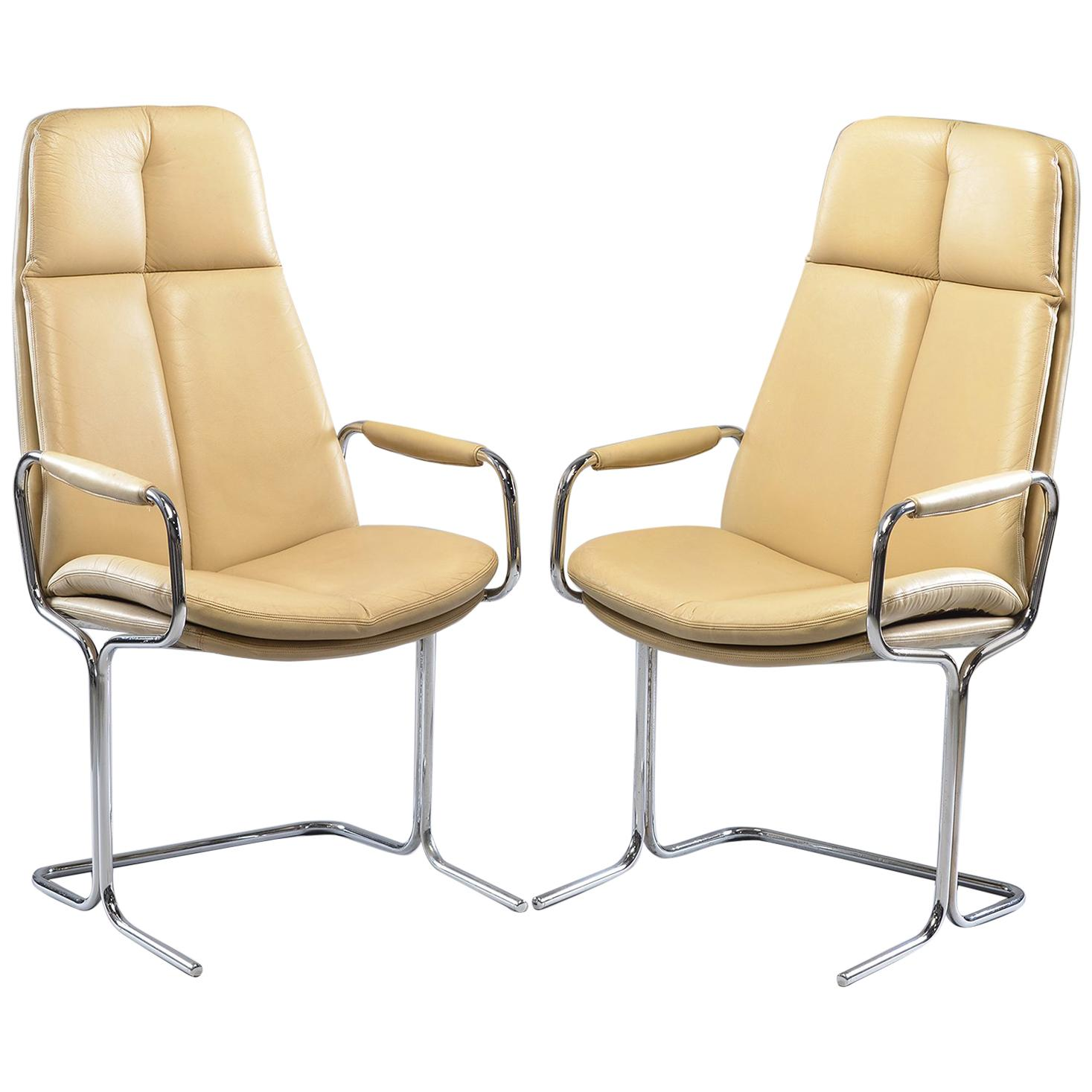 Pair of Armchairs by Tim Bates for Eleganza Collection at Pieff