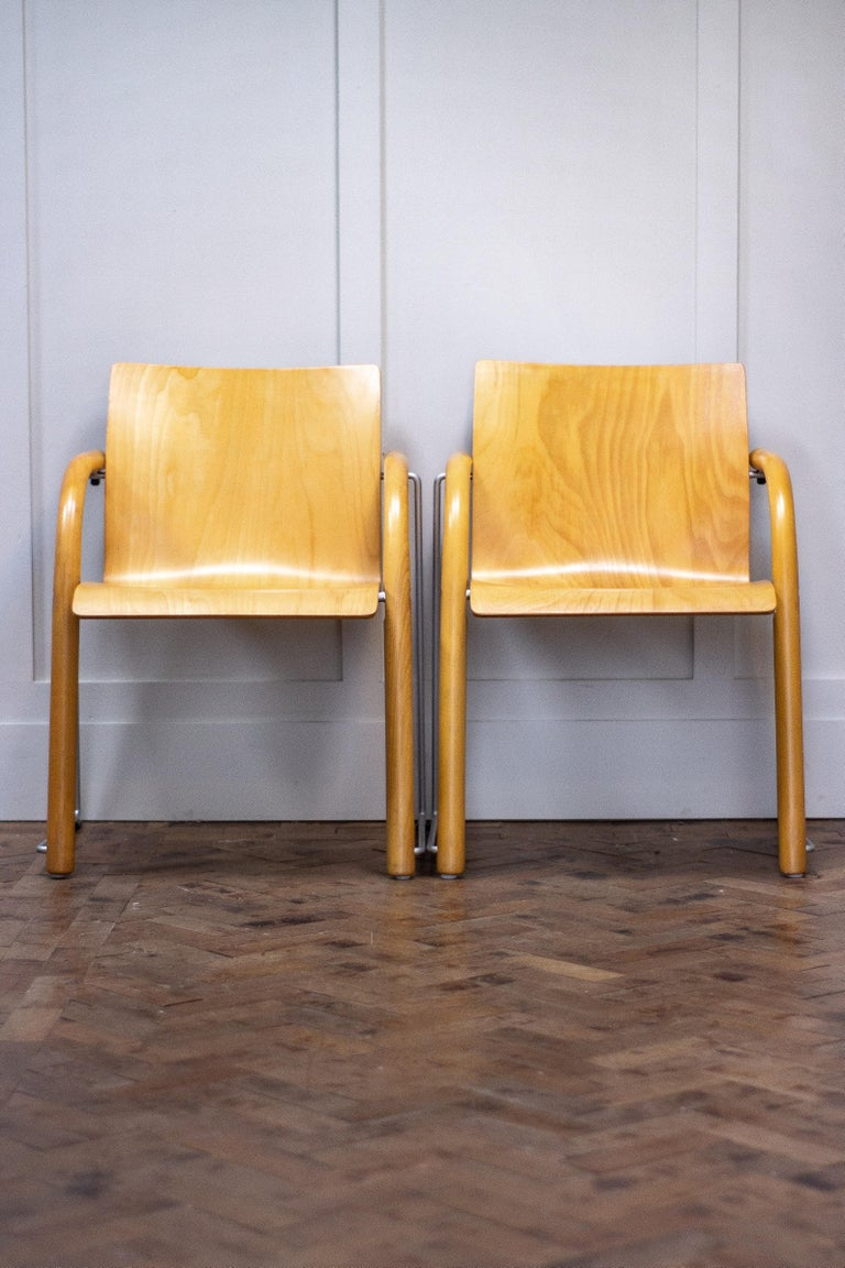 Mid-Century Modern Pair of Armchairs by Ulrich Bohme/ Wulf Schneider for Thonet
