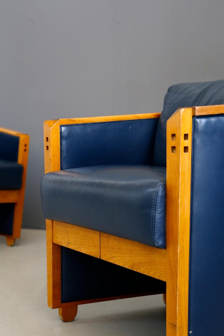 Pair of Armchairs by Umberto Asnago