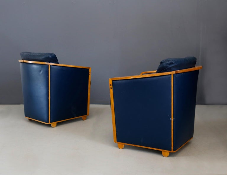 Modern Pair of Armchairs by Umberto Asnago