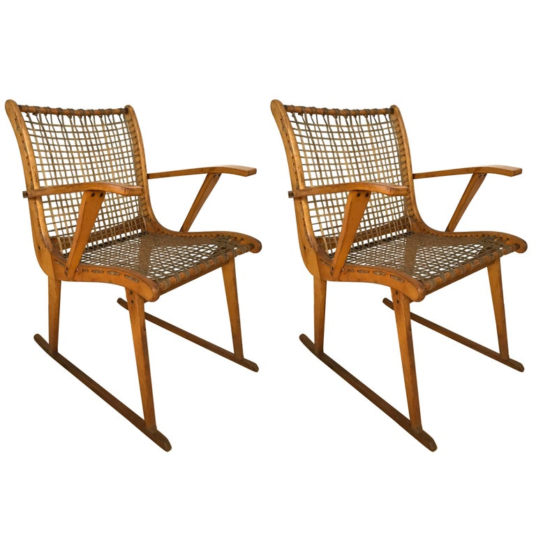 Pair of Armchairs by Vermont Tubbs For Sale