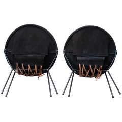 """Pair of Armchairs """"Circle Chair"""" by Lusch Erzeugnis"""