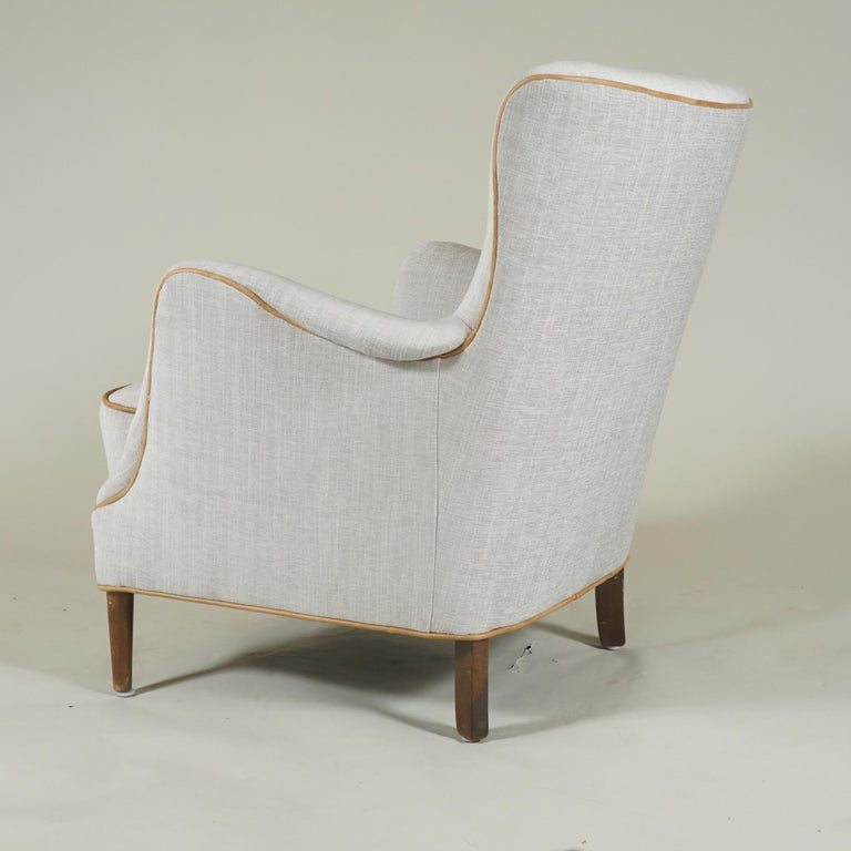 Carved Pair of Armchairs Danish Cabinetmaker For Sale