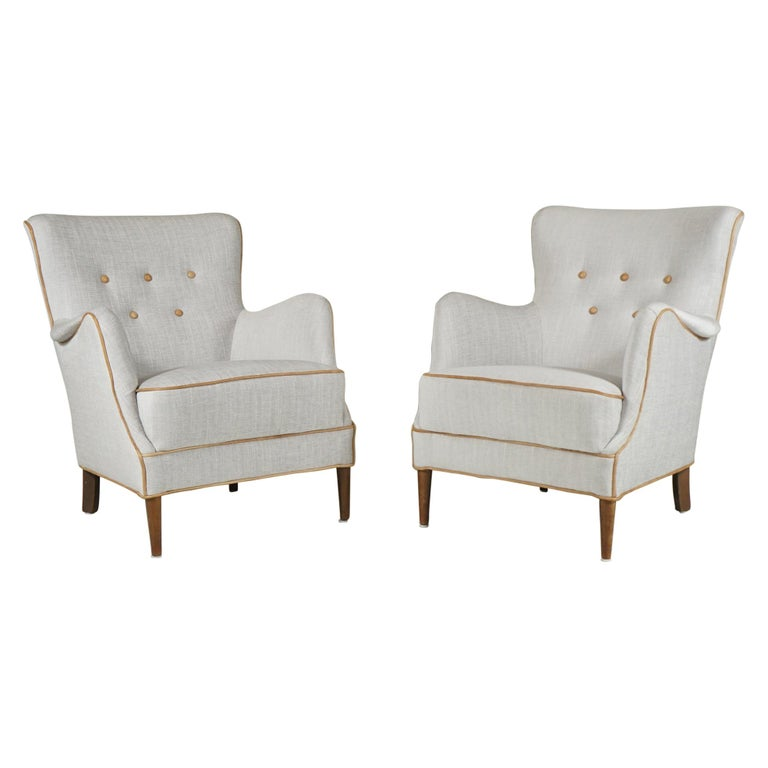 Pair of Armchairs Danish Cabinetmaker For Sale