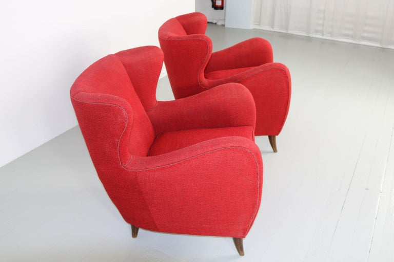 Melchiorre Bega Italian Pair of Armchairs, 1950s For Sale 8