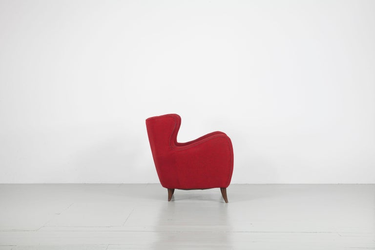 Mid-20th Century Melchiorre Bega Italian Pair of Armchairs, 1950s For Sale