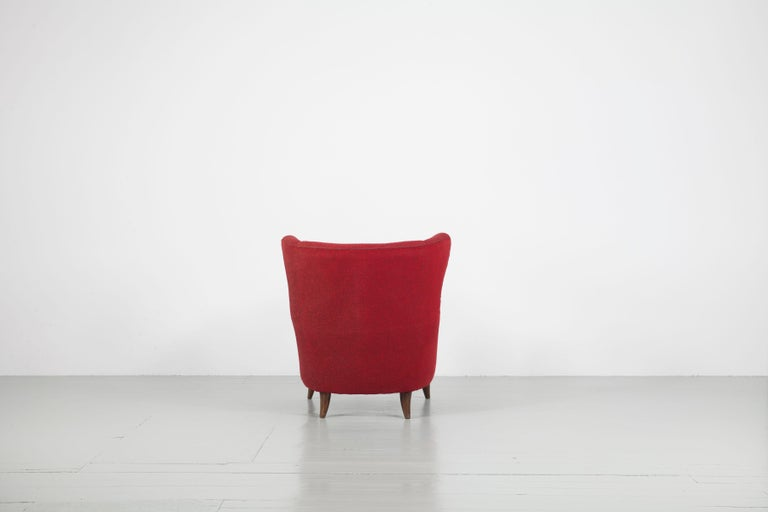 Melchiorre Bega Italian Pair of Armchairs, 1950s For Sale 1
