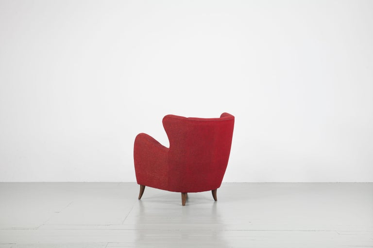 Melchiorre Bega Italian Pair of Armchairs, 1950s For Sale 2