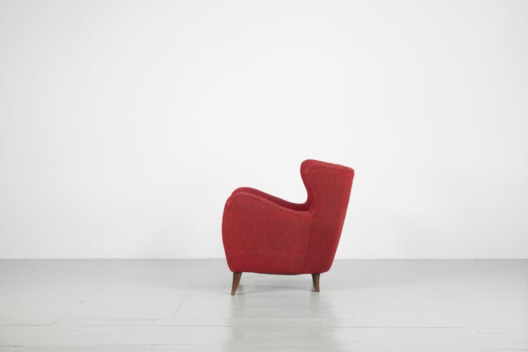 Melchiorre Bega Italian Pair of Armchairs, 1950s For Sale 3