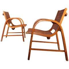 Pair of Armchairs Designed by Erich Diekmann
