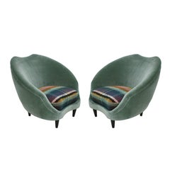 Pair of Armchairs Designed by Federico Munari, Italy, 1950