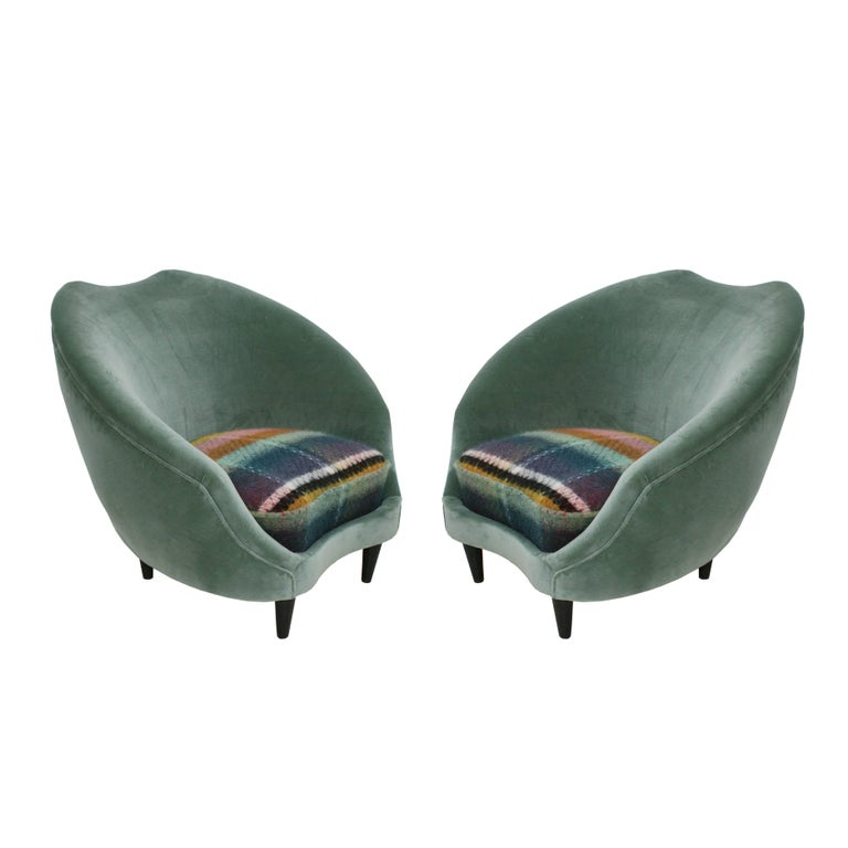 Pair of Armchairs Designed by Federico Munari, Italy, 1950 For Sale