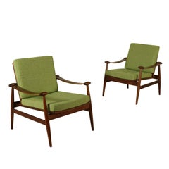Pair of Armchairs Designed by Finn Juhl Teak Vintage, Italy, 1950s-1960s