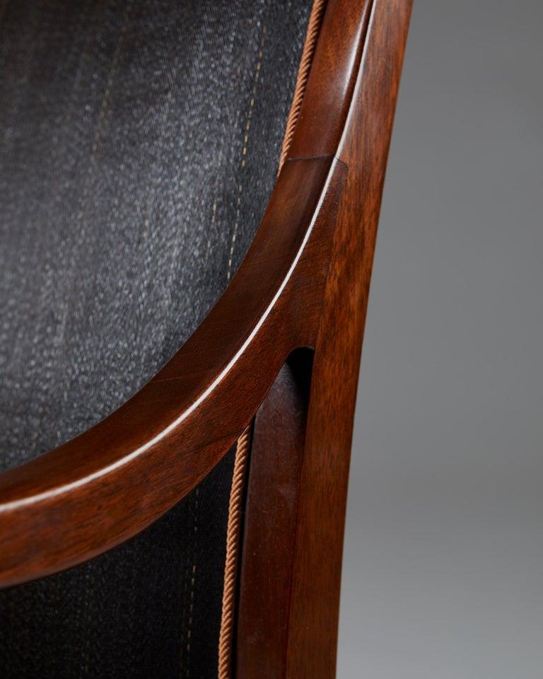 Pair of Armchairs Designed by Frits Henningsen for Frits Henningsen, Denmark, 19 4