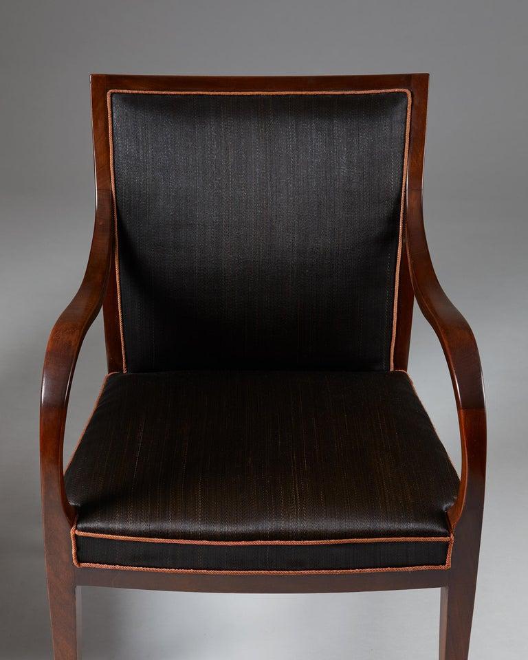 Pair of Armchairs Designed by Frits Henningsen for Frits Henningsen, Denmark, 19 1