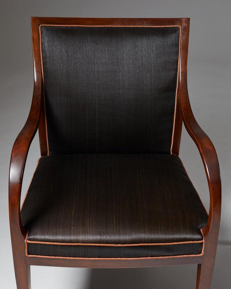 Pair of Armchairs Designed by Frits Henningsen for Frits Henningsen, Denmark, 19 2