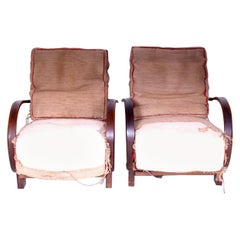 Pair of Armchairs Designed by Jindřich Halabala, 1920s