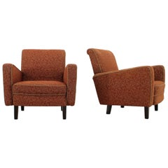 Pair of Armchairs Designed by Jindřich Halabala, 1940s