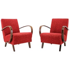 Pair of Armchairs Designed by Jindřich Halabala, 1950s