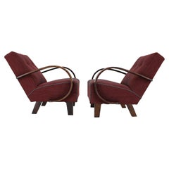 Pair of Armchairs Designed by Jindrich Halabala, 1950s