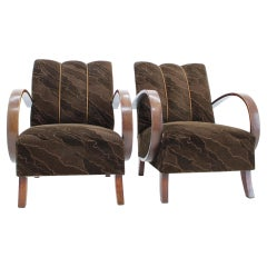 Pair of Armchairs Designed by Jindřich Halabala, 1950s 'renovated'