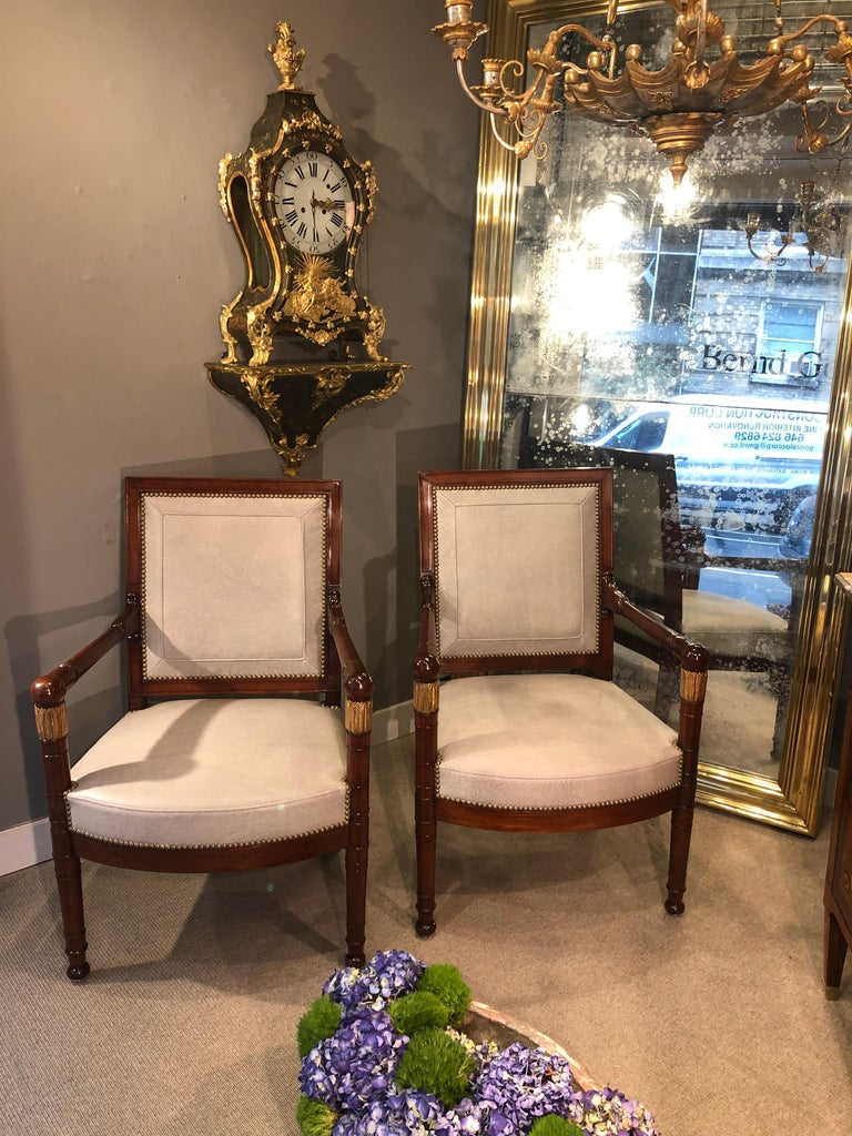Empire Pair of Armchairs, France, circa 1815 For Sale